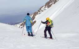 Skiers. Royalty Free Stock Image