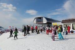 Skiers resort Stock Image