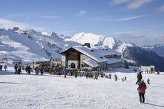 Skiers restaurant Gaschurn Stock Image