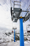 Skiers on the ropeway Royalty Free Stock Photo