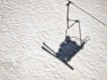 Skiers shadow Stock Photography