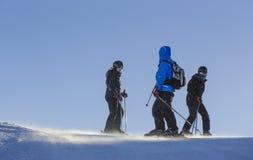 Skiers on ski slope Royalty Free Stock Images