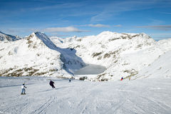 Skiers on slope Stock Photo