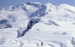 Skiers on top of Whistler Stock Photo