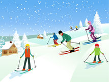 Skiers Royalty Free Stock Photos