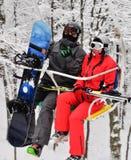 skiersnowboarder royaltyfria foton
