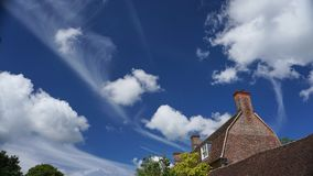 Skies above Avebury. Beautiful day out in Avebury, Wiltshire, England Royalty Free Stock Image