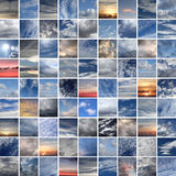 Skies and clouds mosaique Stock Images