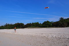 Skies Of Cuba With Kite Flier Stock Images