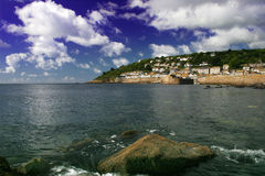 Skies over Mousehole Royalty Free Stock Photography