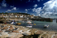 Skies over Mousehole Stock Photo