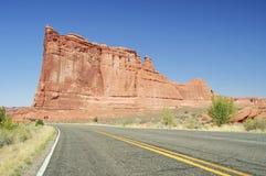 Skies,sunny day at Arches Canyon, Utah. USA Stock Image