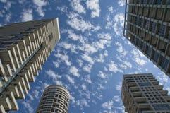The Skies of Tel Aviv City. Tel Aviv skyscrapers. Peaceful skies Royalty Free Stock Photo