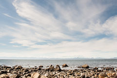 Skies at Vancouver Island stock photo