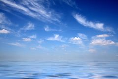 Skies upon water Royalty Free Stock Images