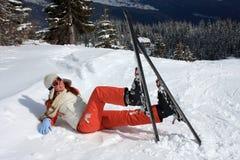 Skieur Photographie stock libre de droits