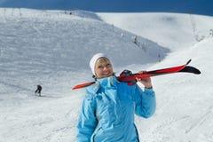 Skieur Image libre de droits