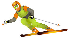 Skieur Photo stock