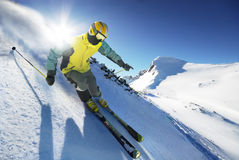 Skieur Photos stock