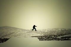 Skieur au-dessus de Park City Photographie stock