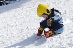 Skieur d'enfant Images libres de droits