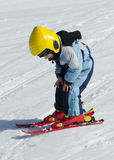 Skieur d'enfant Photos libres de droits