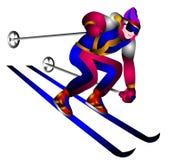 Skieur d'illustration Photographie stock