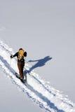 Skieur de Backcountry photos libres de droits