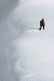 Skieur de Backcountry images libres de droits