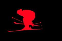 skieur de exécution en hauteur illustration de vecteur