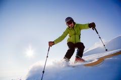 Skieur de Freeride image libre de droits
