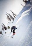 Skieur de Freeride image stock