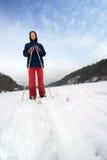 Skieur de pays en travers Photos stock