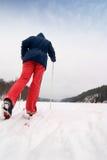 Skieur de pays en travers image stock