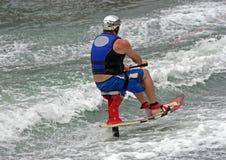 Skieur de présidence Photographie stock libre de droits