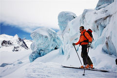 Skieur parasitaire image stock