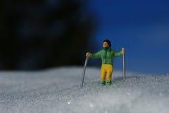 Skieur vert Photos libres de droits