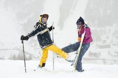 Skieurs Image libre de droits