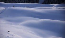 Skieurs Photos libres de droits