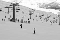 Skieurs Photo libre de droits
