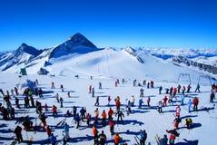 Skieurs Images libres de droits