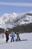 skieurs Photo stock