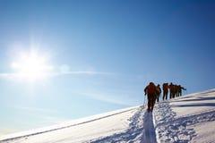 skieurs backcountry photos stock