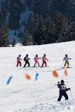 skieurs juniors images libres de droits