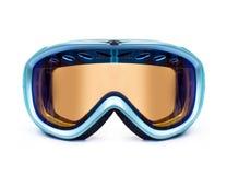 Skiez ou faites du surf des neiges le plan rapproché de masque d'isolement sur le fond blanc Photographie stock