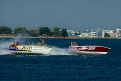 skif klasowe łódź motorowa Fotografia Royalty Free