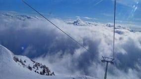 Skifahren Stockbild