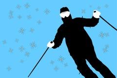 Skifahren Lizenzfreie Stockfotos