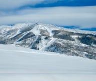 Skifahren-Dampfschiff Stockfotos