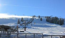 Skifahren-Erholungsort Zillertal-Arena. Gerlos, Österreich. Lizenzfreies Stockbild